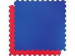 Puzzle-Matte Fallschutz rot/blau