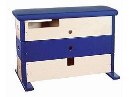 Sprungkasten 3-teilig breit, blau